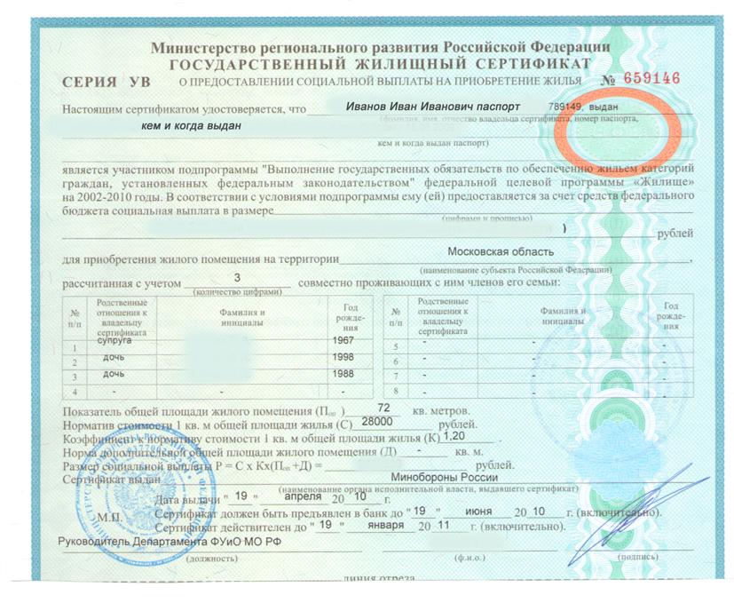 Молодая семья получение сертификата сертификация на ндв