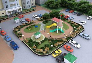 Озеленение придомовой территории многоквартирного дома фото