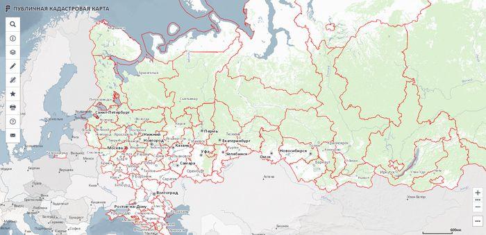Как открыть публичную кадастровую карту России